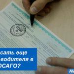 Как вписать еще одного водителя в электронный или бумажный полис ОСАГО?
