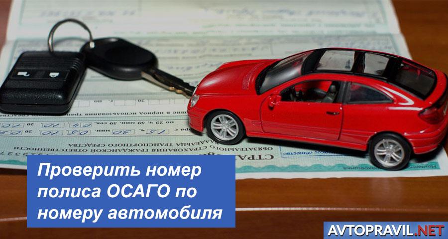 Проверить номер полиса ОСАГО по номеру автомобиля