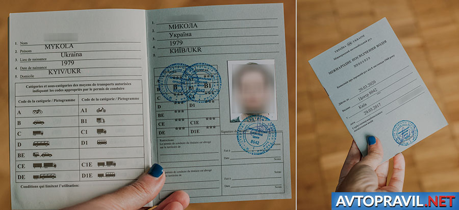 Международные водительские права в руках