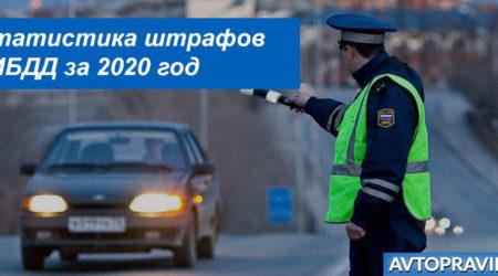 Статистика ГИБДД по штрафам в 2020 году