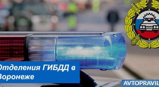 Контакты и время работы подразделений ГАИ в Воронеже